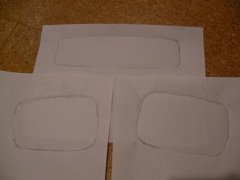 紙で型をとりまして。
