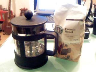 コーヒープレスはスタバのやつが安い。
